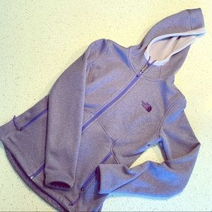 North Face purple zippered hooded jacket S/P